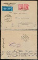 ANDORRA. 1941 (5 Mayo). A La Vieja - Portugal (9 Mayo). Sobre Certificado Censura Barcelona Via Seo Urgel. Aereo, Con Ll - Non Classés