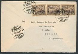 ANDORRA. 1958 (27 Enero). A La Vieja - UK. Sobre Franqueo 3pts Tarifa (1 Pta X 3). Prec. - Non Classés