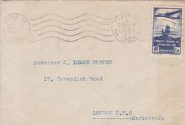 Lettre Avec Timbre Conquète De L'atlantique Sud / PARIS POUR LONDRES 1937 - Marcophilie (Lettres)