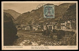 ANDORRA. 1931 (17 Oct). Of Francesa. TP Sin Circular Con Sello Franqueo Primera Emision 1 1/2c Sobrecargado. MB. - Non Classés