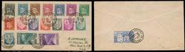 ANDORRA. 1948 (25 Feb). Of Francesa. A La Vielle - USA. Sobre Cert Franqueo Mutliple. MB. - Timbres