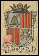 ANDORRA. 1947 (13 Sept). Of Francesa. A La Vielle - Francia. TP Maximun Card Sello 50c Con Direccion Dest / Sin Texto. - Timbres