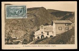 ANDORRA. 1933. Of Francesa. TP Mmaximun Card. Franqueo 1c Sin Circular. - Timbres