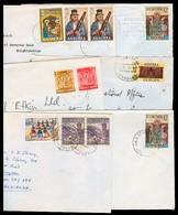 ANDORRA. 1970's. 6 Franqueos Multiples Al Reino Unido. Diff Oficinas. - Timbres