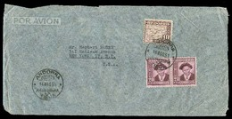 ANDORRA. 1951 (16 Ago). A La Vieja - USA. Franqueo Via Aerea Tarifa 10pts 40c. - Timbres
