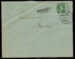Switzerland - XX. 1911 (29 Nov). Niederhasli - Reg. Fkd Env Cds. Stline Oberhasli. VF. - Switzerland