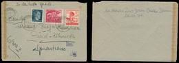 AUSTRIA - XX. 1945 (7 March). Linz / Donan - Switzerland Multifkd Comm Stamps + Censored Env Incl Hitler Stamp. - Austria