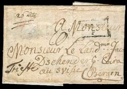 CROATIA. 1785. TRIEST - CROATIA - MILANO - SWITZERLAND. Gospich / Croatia. Missionary EL Full Text Carried Via Milano - - Croatie