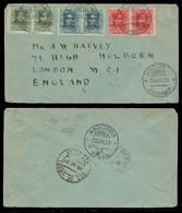ANDORRA. 1923 (29 Julio). Encamp - Inglaterra. Sobre Circulado Con 1ª Emision Andorra Española Con Parejas Sellos Sobrec - Timbres