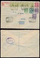 ANDORRA. 1932 (16 Julio). Correo Español. A La Vieja - Inglaterra / Canterbury (20 Julio). Sobre Certificado Franqueo Mu - Timbres
