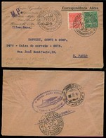 BRAZIL. 1929 (19 Nov). Florianopolis - S. Paulo. Condor Airmail. MP Reverse. Hidro-avion Cachet. VF. - Brésil