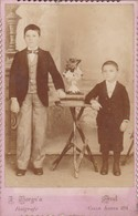 ENFANTS GARÇON BOYS VINTAGE PHOTO CIRCA 1890- JUAN BORÑIA, AZUL. PHOTO SIZE 11x16.5 Cm - BLEUP - Fotos