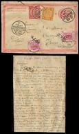 CHINA. 1899 (17 Sept). CHINA - KOREA - HONG KONG. CHINA STATIONARY USED FROM KOREA. Seoul  - UK. IPO 1c Stat Card + 2 Ad - China
