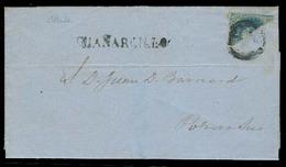 CHILE. 1859 (1 July). Chañarcillo - Potrero Sur. EL Full Contains Fkd 10c Bisected, Tied Grill + Stline Guañarcillo (xxx - Chile