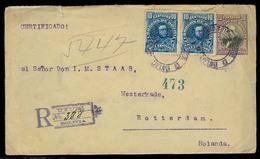 BOLIVIA. 1906. Uyuni - Netherlands. Reg 20c Stat Env + 2 Adtls. Via Antofagasta Reverse. Fine. - Bolivie