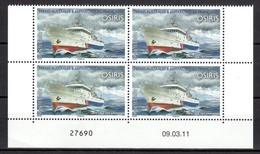 TAAF POSTE 594 BLOC DE 4 COIN DATE NEUF** SUPERBE - Französische Süd- Und Antarktisgebiete (TAAF)