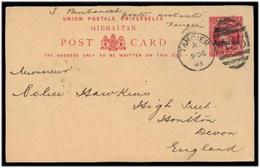 MARRUECOS - British. 1903 (9 Dec). Tangier - UK. 10c. Ovptd Stat Card. Full Text Usage. Fine. - Maroc (1956-...)