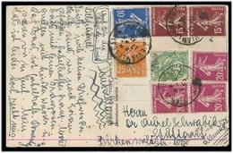 FRANCE - XX. 1935 (17 Aug). Evian - Germany. Multifkd PPC. Nice Item. - France