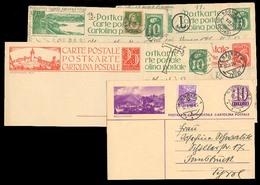 Switzerland - XX. C.1925. 6 Diff View Stat Cards To Austria (one Is Mint). Fine Group. - Switzerland
