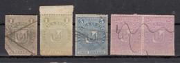 Dominicaine  Armoireries Arms 1881   4 Valeurs - Dominicaine (République)