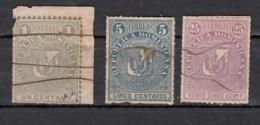 Dominicaine  Armoireries Arms 1881   3 Valeurs - Dominicaine (République)