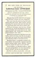 Oorlogsslachtoffer Oostende 16/12/41 * Levecque Ludovicus (° Middelkerke 1910)  X Corewyn Lydia - Religion & Esotérisme