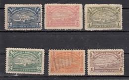 Dominicaine  Carte De L'ile  1900   6 Valeurs - Dominicaine (République)