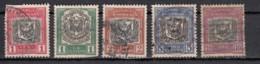 Dominicaine  Armoireries   Arms 1911  5 Valeurs - Dominicaine (République)