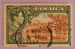 JAMAIQUE  YT 129  CAD KINGSTON  1 NOV 1954  ANNEE 1938 - Jamaique (1962-...)
