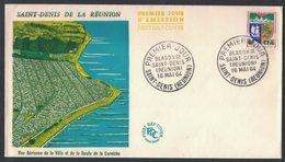 YN363    FRANCE FDC 1964 *  BLASON DE SAINT-DENIS DE LA REUNION. - FDC