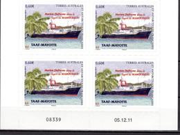 TAAF POSTE 601 BLOC DE 4 COIN DATE NEUF** SUPERBE - Französische Süd- Und Antarktisgebiete (TAAF)