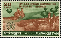 PAKISTAN MNH 1970 FIRST DAY COVER 10TH F A O REGIONAL CONFERENCE FOR THE NEAR EAST ISLAMABAD . - Pakistan