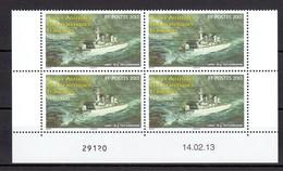 TAAF POSTE 660 BLOC DE 4 COIN DATE NEUF** SUPERBE - Französische Süd- Und Antarktisgebiete (TAAF)