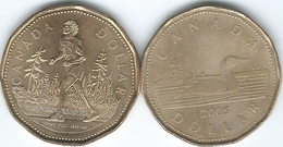 Canada - Elizabeth II - 2005 - 1 Dollar - 4th Portrait - No Mintmark (KM495) & Terry Fox - Athlete (KM552) - Canada