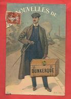 CPA à Système Dunkerque (59)  Nouvelles De ....Voyageur Avec Valise ,illustrateur - Dunkerque