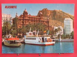 Visuel Très Peu Courant - Espagne - Alicante - Detalle Del Puerto - Al Fondo El Castillo - Joli Timbre - Recto-verso - Alicante