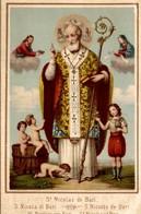 CHROMO  IMAGE RELIGIEUSE CHICOREE BLEU-ARGENT ARLETTE & Cie CAMBRAI SAINT NICOLAS DE BARI - Images Religieuses