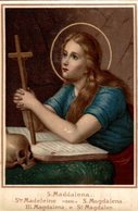 CHROMO  IMAGE RELIGIEUSE CHICOREE BLEU-ARGENT ARLETTE & Cie CAMBRAI SAINTE MADELEINE - Devotion Images