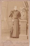 DAMA ANTIGUA ANTIQUE FEMME BOUQUET ROSES VINTAGE PHOTO CIRCA 1880- D.DI FERRANTE, AZUL. PHOTO SIZE 11x16.5 Cm - BLEUP - Fotos