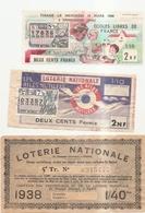 3 Billets De Loterie - Billets De Loterie