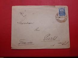 Paraguay Sobre De Expedicion Circulado A Francia Recepcion En Pario 1892 - Paraguay