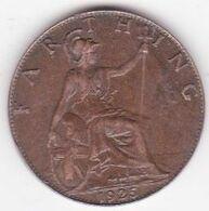 Grande-Bretagne 1 Farthing 1925 , George V - 1902-1971 : Post-Victorian Coins