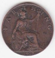 Grande-Bretagne 1 Farthing 1917 , George V - 1902-1971 : Post-Victorian Coins