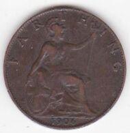 Grande-Bretagne 1 Farthing 1906 , Edward VII - B. 1 Farthing