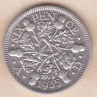 Grande Bretagne. 6 Pence 1935. George V ,en Argent - 1902-1971 : Post-Victorian Coins