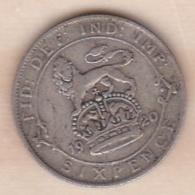Grande Bretagne. 6 Pence 1920. George V ,en Argent - 1902-1971 : Post-Victorian Coins
