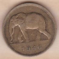 CONGO-BELGE. 2 FRANCS 1946. (Éléphant) - 1945-1951: Régence