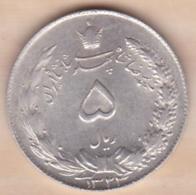 Iran 5 Rials AH 1324 (1945) Muhammad Reza Pahlavi Shah , En Argent KM# 1145 - Iran