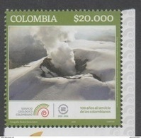 COLOMBIA, 2016, MNH, GEOLOGY, MOUNTAINS, VOLCANOES, 1v - Volcanos