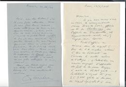 CLAUDE FARRERE 1876 - 1957  Autographe 2 Lettres  22.3.44  ( 1 P. ) 13.7.48 ( 4 P. Affaire Des Dardanelles 1915-16 ) - Autographes